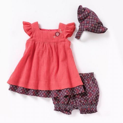 RED BABY GIRLS SWING DRESS SET